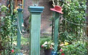 DIY LampPosts, No Dig,  No Mess Block & Posts — Garden Bridge Update