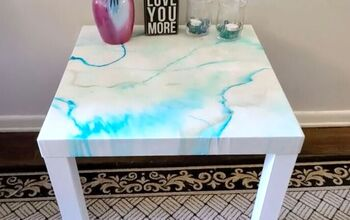 Make Your Own Faux Marble Table With This Easy Tutorial