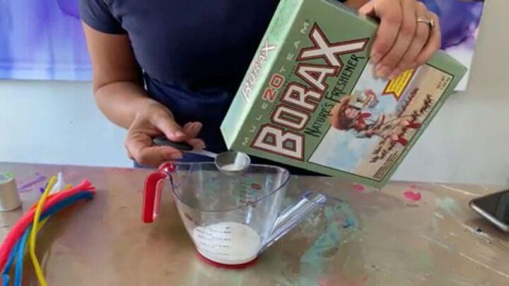 DIY borax crystal solution
