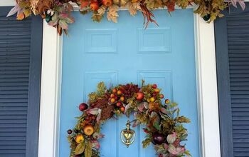 Grand Front Door Decor for Fall