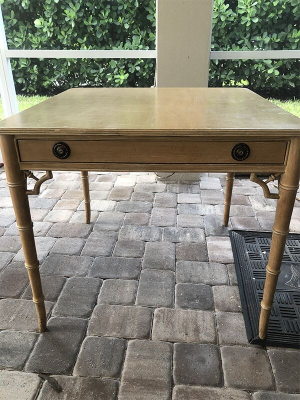 tommy bahama style card table makeover