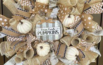 DIY Fall Ribbon & Burlap Wreath