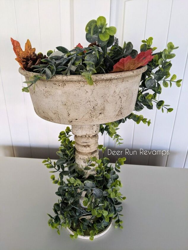 how to make a single farmhouse tray stand with lots of texture