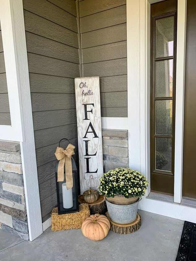 how to make your own fall front porch sign