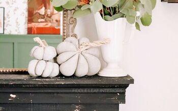 DIY Pantyhose Concrete Pumpkins