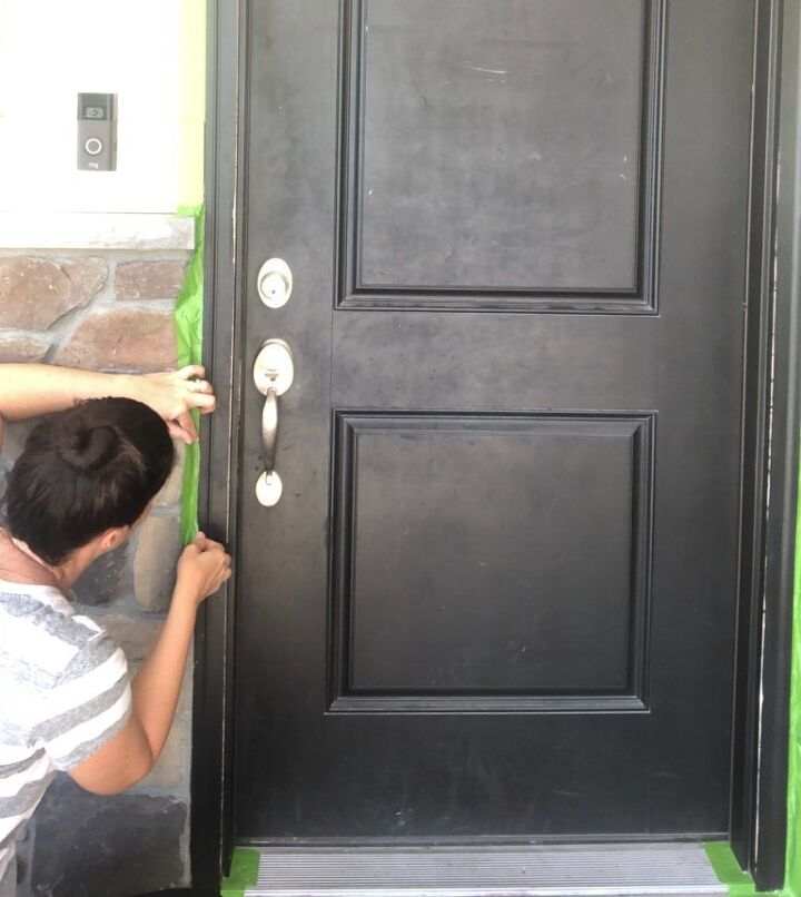 paint your front door in just an afternoon