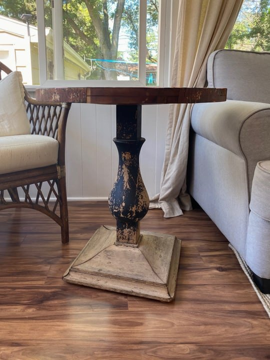 diy round side table makeover