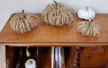 Easy Farmhouse-style Twine Pumpkins