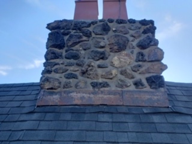 q how to repair leaking chimney made of porous stone
