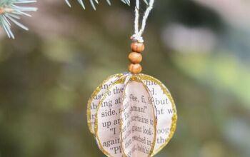 Thrift Store Books:  Repurpose To Make This Christmas Ornament!