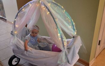 DIY Light Up Cinderella Carriage From a Wagon