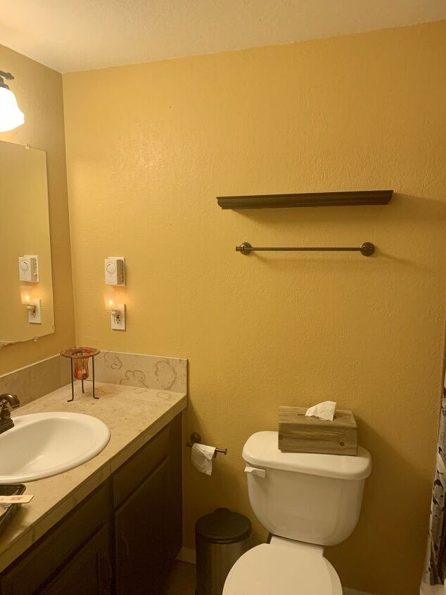 inexpensive bathroom re do in the colorado mountains