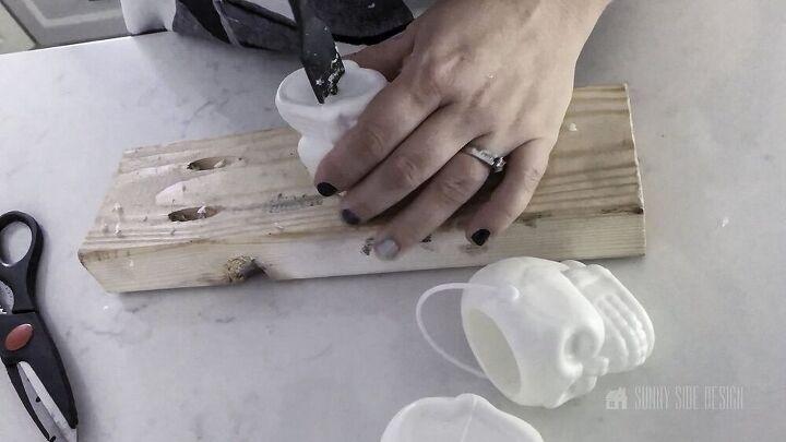 diy halloween skull napkin rings