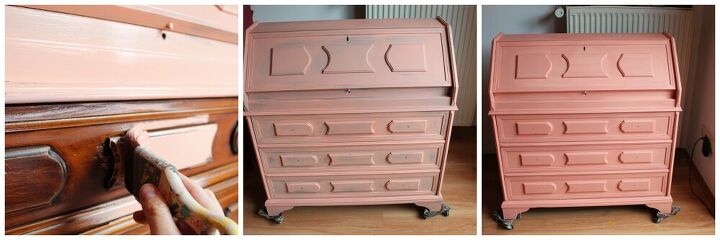 you need to learn how to create unique coral painted furniture