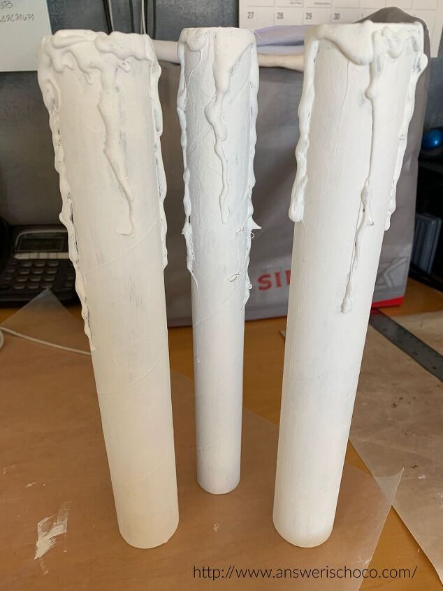save your empty vinyl rolls and make spooky faux candles