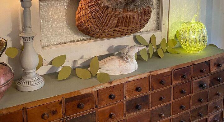 paper bag leaf garland