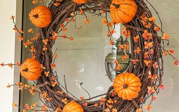 DIY Pumpkin Wreath With Bittersweet