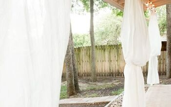 An Inexpensive IKEA Patio Makeover With Outdoor Curtains