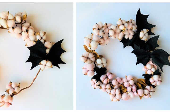 diy halloween bat wreath