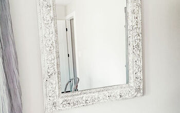 How To Paint and Distress a Mirror Frame