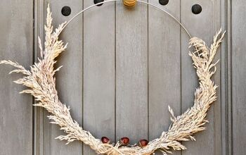 Fall Wreath - Wheat Grain Stems