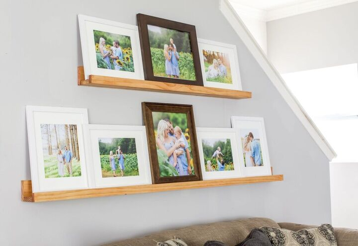 make a diy picture ledge how to style it