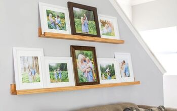 Make A DIY Picture Ledge & How To Style It