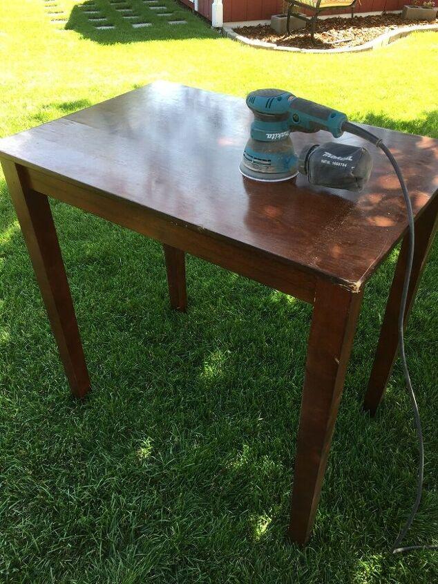 a quick pub table refurbish