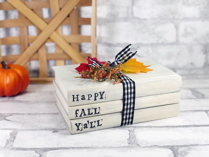 hand stamped book bundle for fall
