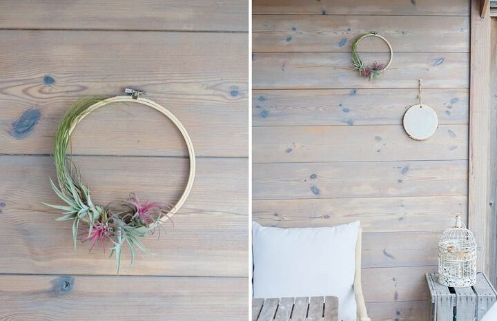 diy air plant wreath