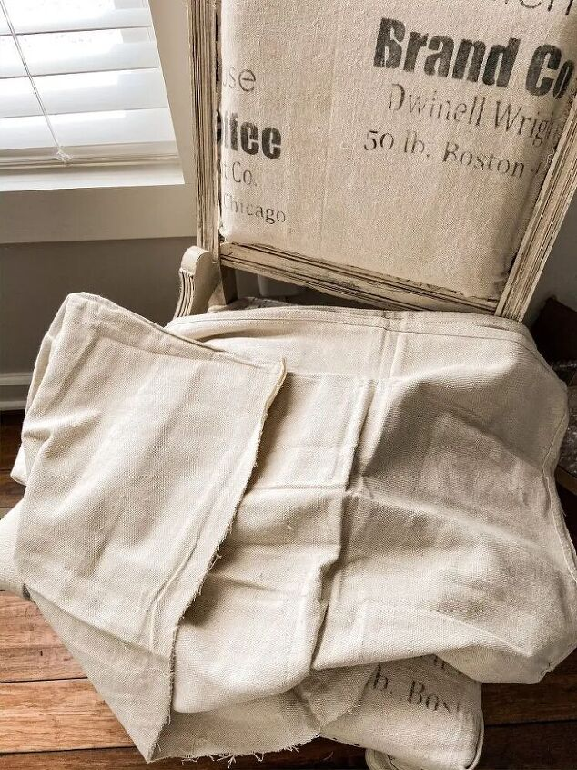 how to make vintage inspired feed sack fabric