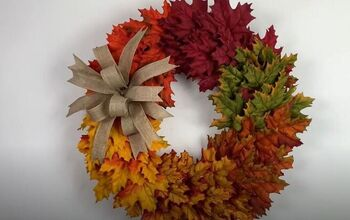 Create the Perfect Fall Piece With This DIY Ombre Wreath