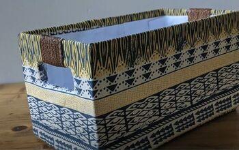 Upcycle a Cardboard Box Into a Home Storage Savior