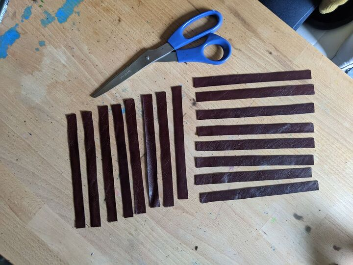 diy woven leather napkin rings