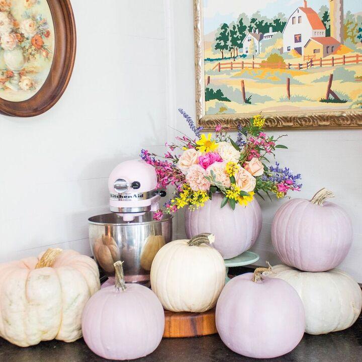 diy milk paint pumpkins