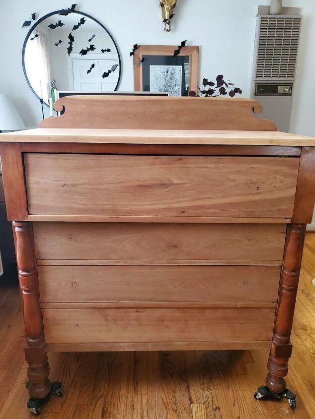 old dresser with a moder twist