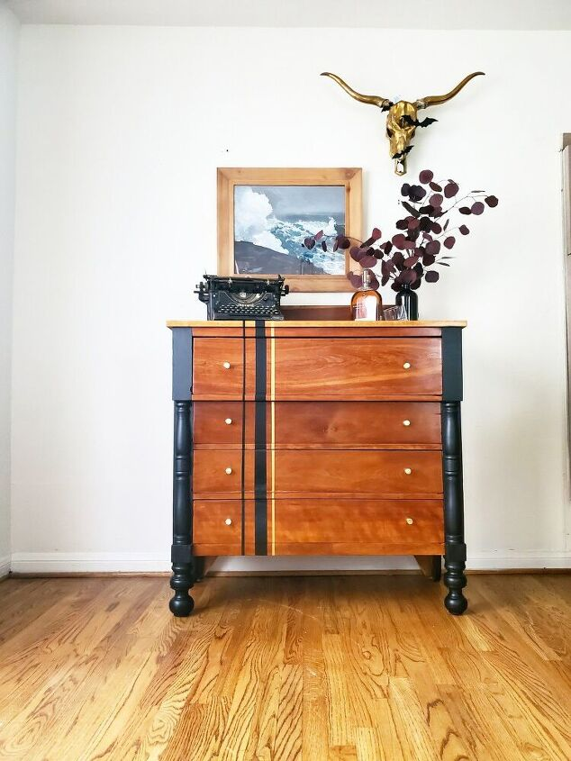 old dresser with a moder twist, All done