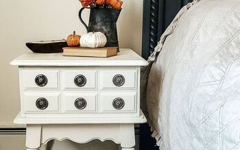 Refinished Thrifted Vintage Side Table Turned Nightstand