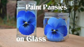 q how to paint glass vases with pretty flowers