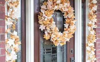 Easiest Fall Wreath Using Garland!