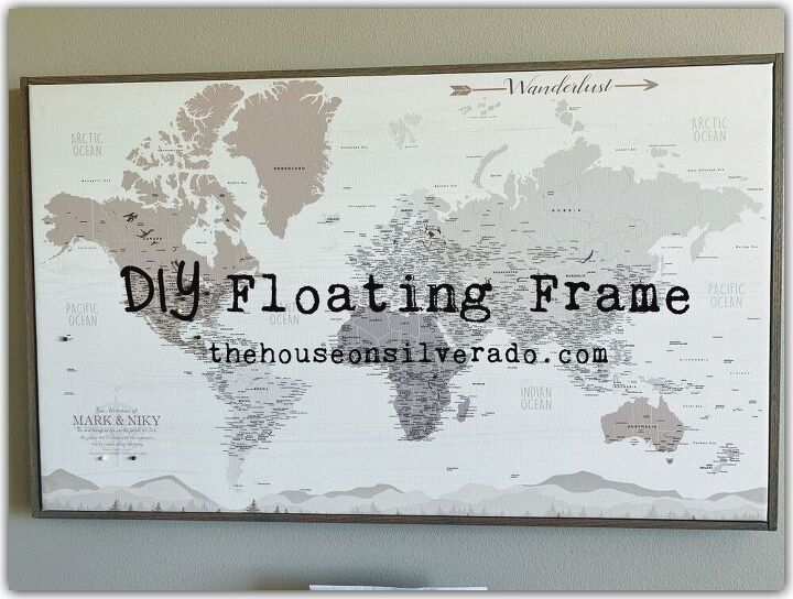 how to build a diy floating frame