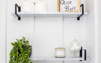 Marble Shelves: Easy DIY Contact Paper Shelves