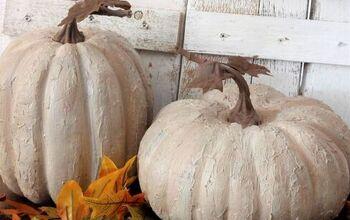 DIY Weathered Stone Pumpkins!
