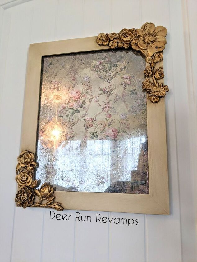 diy anthropologie inspired mirror using redesign with prima products