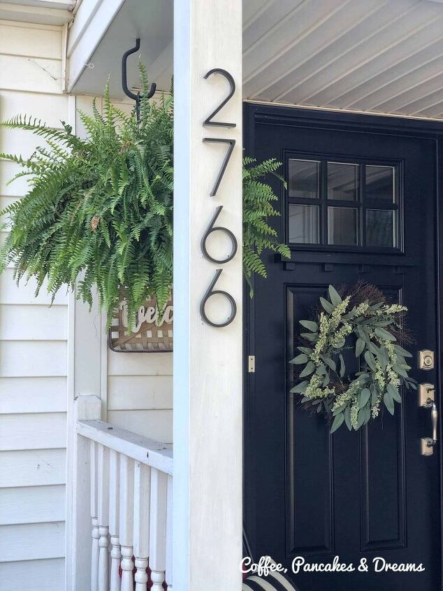 how to install raised black numbers to front porch