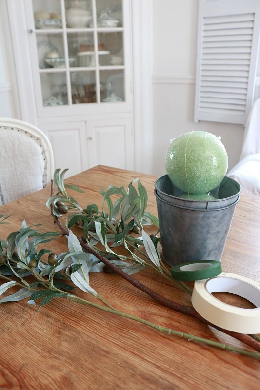 diy faux olive topiary