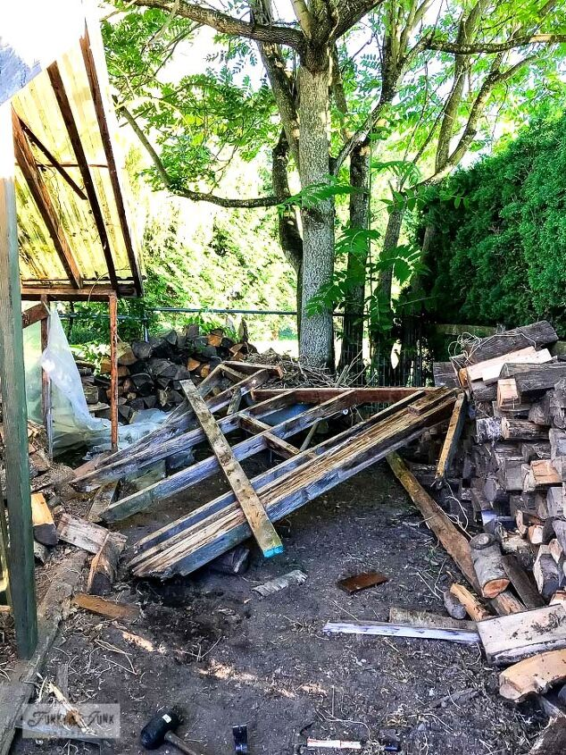 how i rebuilt a garden shed using free reclaimed wood