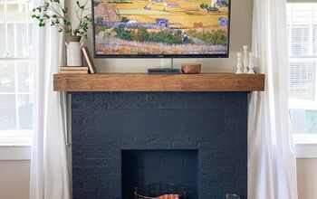Fireplace Transformation: A Bold Paint Makeover, DIY Mantel
