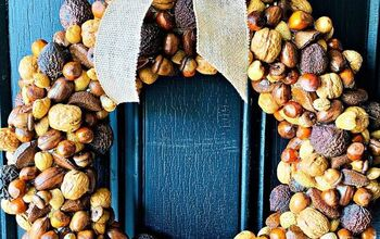 How To Make A Gorgeous Autumn Wreath With Nuts!