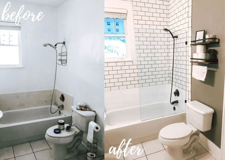 how we completely overhauled our guest bathroom on a budget